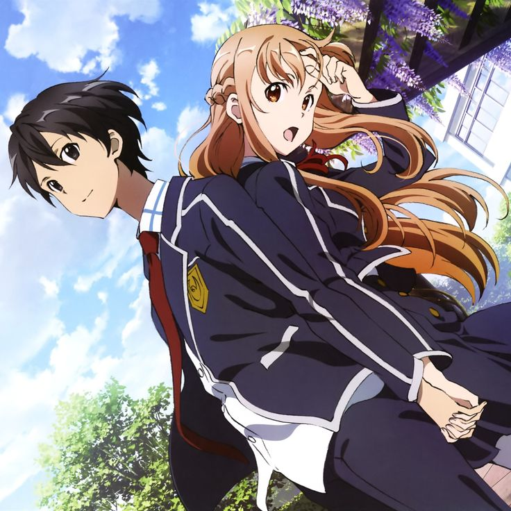 Sword Artwork On-line, Kirito + Asuna, official artwork