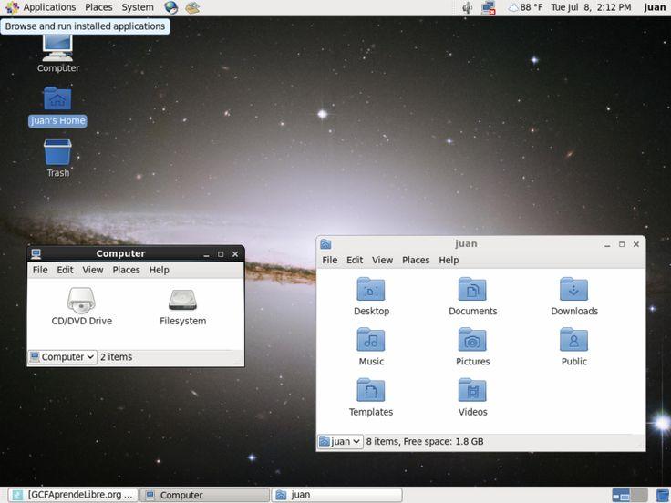 Sistema operativo Linux - Versión CentOS.