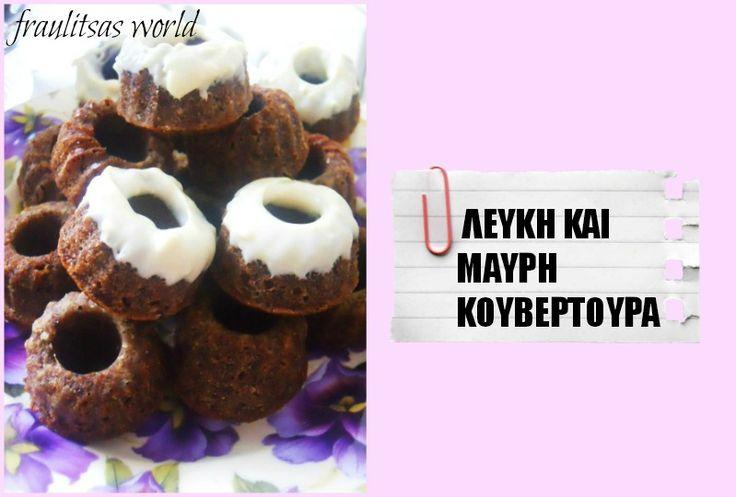 minigugls with white and dark chocolate