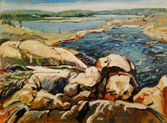 Arthur Lismer, one of Canada's famous Group of Seven.  Brink of Falls Moon River, 1930
