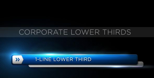 Corporate Lower Third customizable After Effects lower third project template for video.