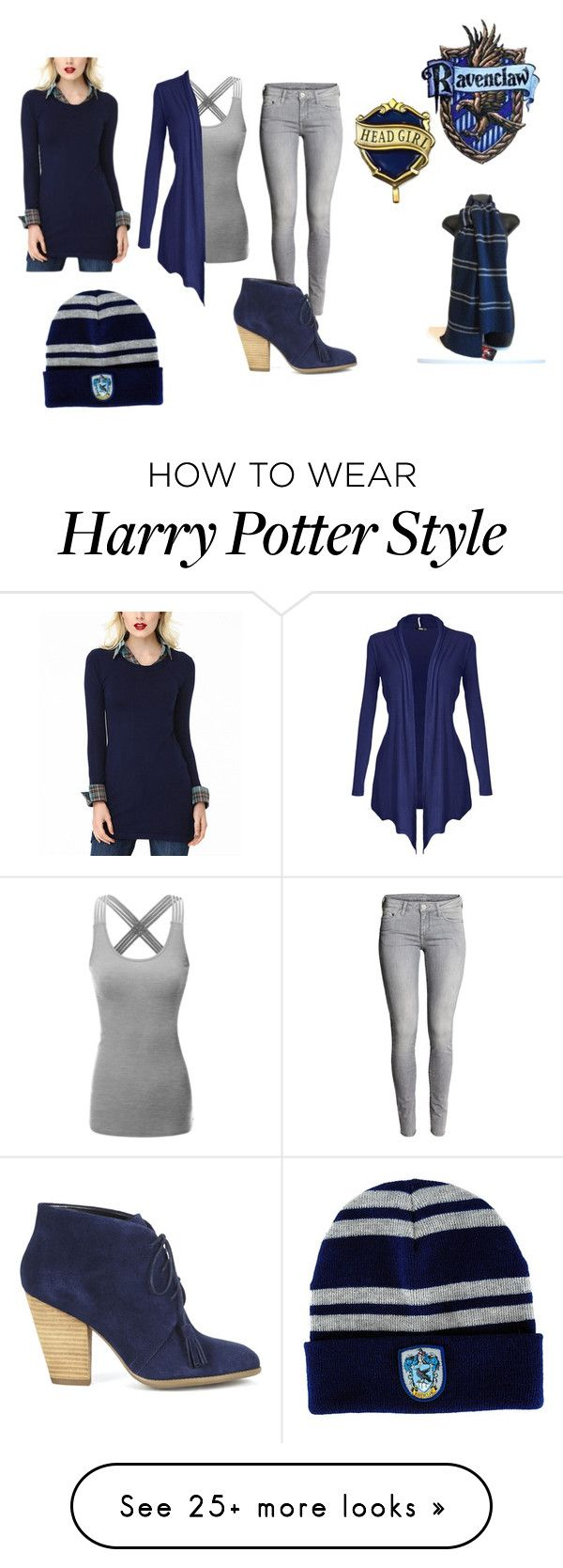 """Ravenclaw: Hogsmeade"" by dominique-waller on Polyvore featuring Doublju and Sole Society"