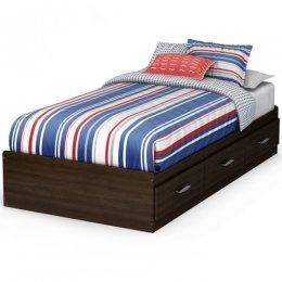 Discount Furniture Stores | The three-drawer design of this 39-inch Highway Twin Mates Bed provides a great space-saving solution especially when paired with Highway bookcase headboard that you can also get here.