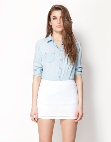 Bershka Georgia - Bershka denim shirt