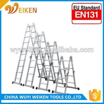 wuyi 5.7m 4*5 step aluminum multi-purpose ladder