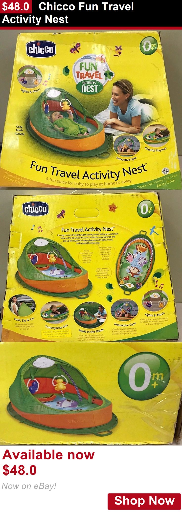 Baby play shades and tents: Chicco Fun Travel Activity Nest BUY IT NOW ONLY: $48.0