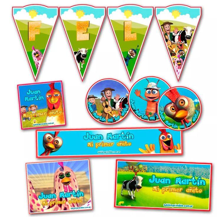 kit candy bar canciones de la granja impreso stickers y mas