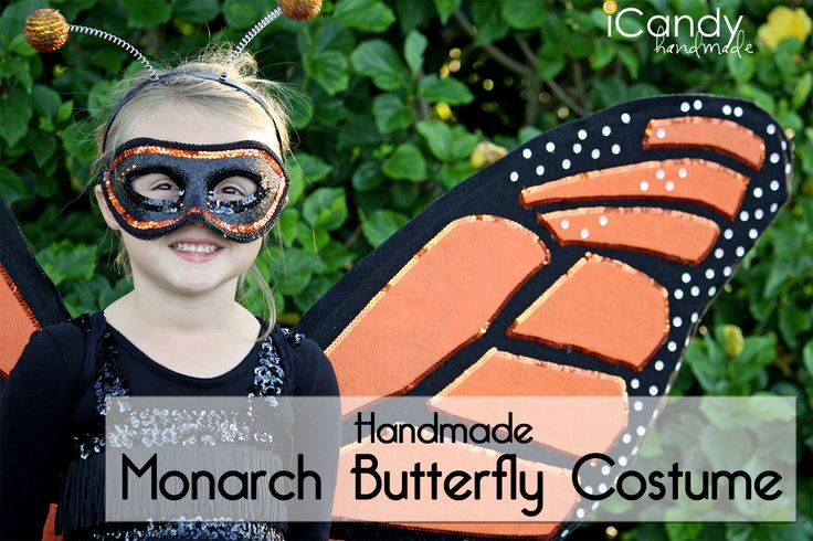 DIY Monarch Butterfly Costume tutorial || icandy handmade