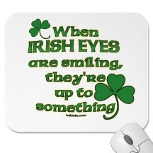 Irish Eyes Joke Mouse Pads