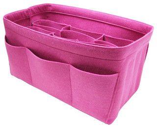 Hot Pink Felt Bag Organizer by Samorga - modern - storage and organization - by Etsy
