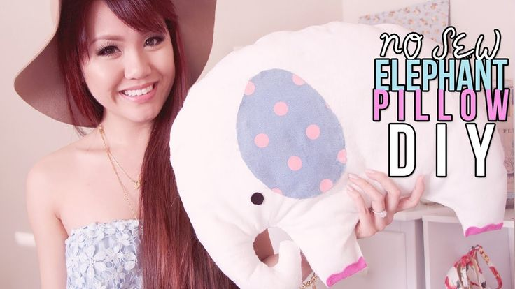 DIY ROOM DECOR ✿ No Sew Elephant Pillow Plush