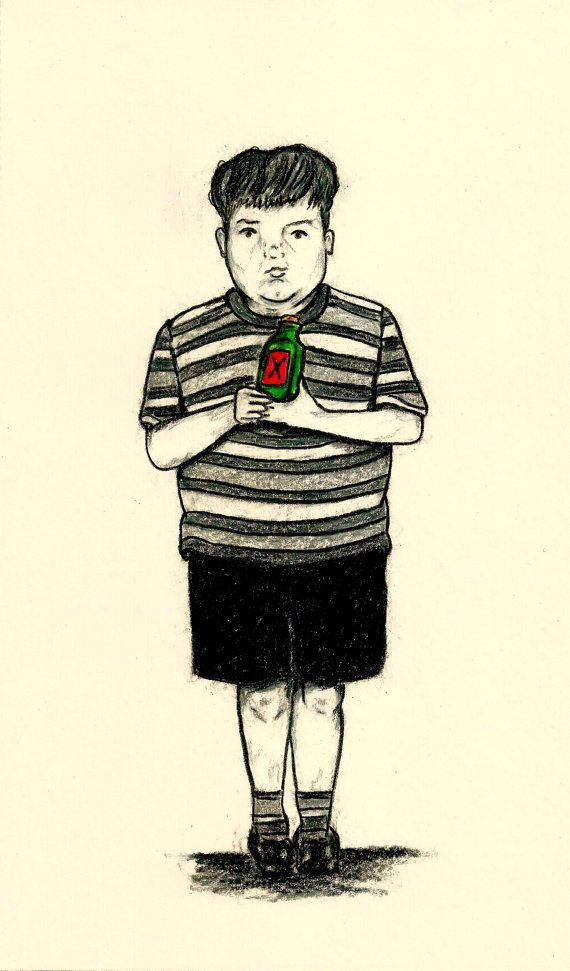 PUGSLEY ADDAMS  TV Character Print  Boys by LittleEnithandSons