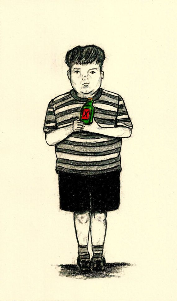 PUGSLEY ADDAMS  TV Character Print  Boys by LittleEnithandSons
