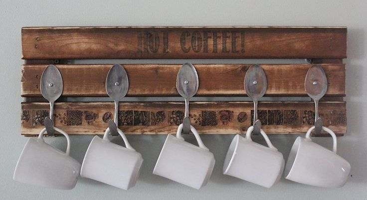 Pallet Coffee Mug Holder | #Pallet #Furniture