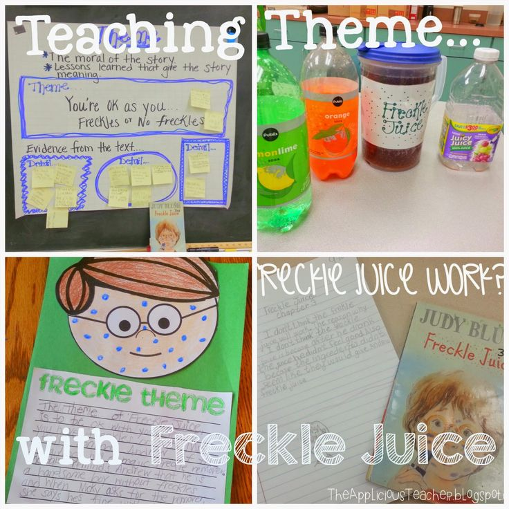 """Activity ideas for using the beloved book, """"Freckle Juice"""" as a close read to teach theme and so much more. Loved this book as a kid! #closereading #frecklejuice #literatureinreallife"""