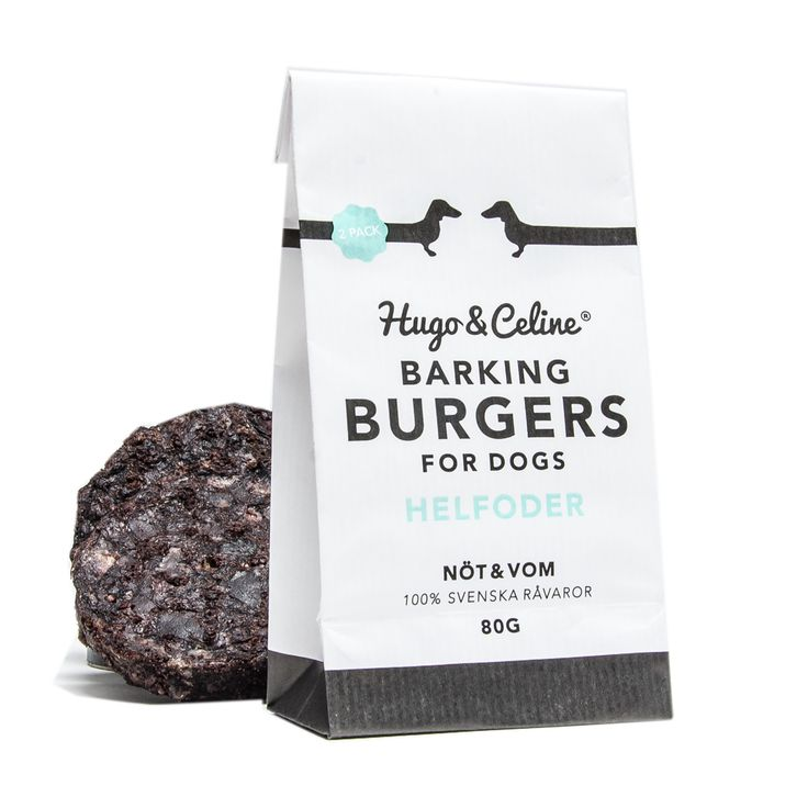 Hugo & Celine Burgers for Dogs - packaging