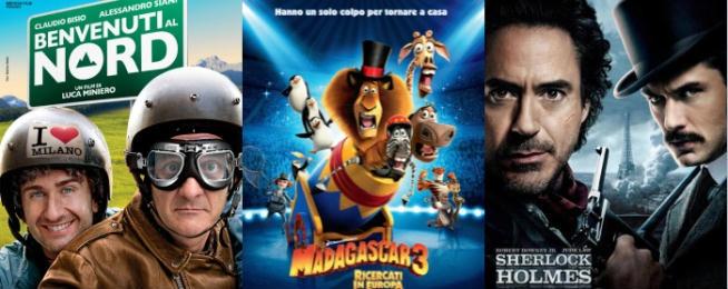 Benvenuti al Nord, Madagascar 3: Ricercati in Europa e Sherlock Holmes: gioco di ombre vincono il Biglietto d'Oro posizionandosi rispettivamente al primo, secondo e terzo posto nella classifica dei film più visti in Italia.