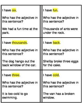 valentine adjective activities