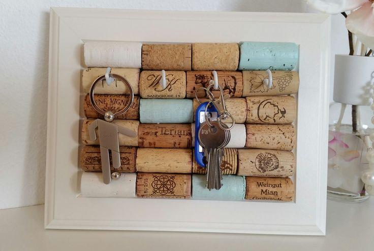 Schlüsselbretter & -kästen - Schlüsselbrett DIY mit Weinkorken