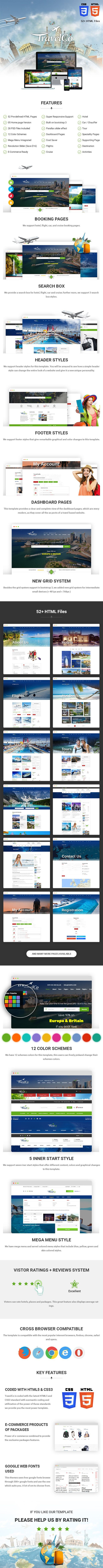 travelco tourism and tour booking html5 template