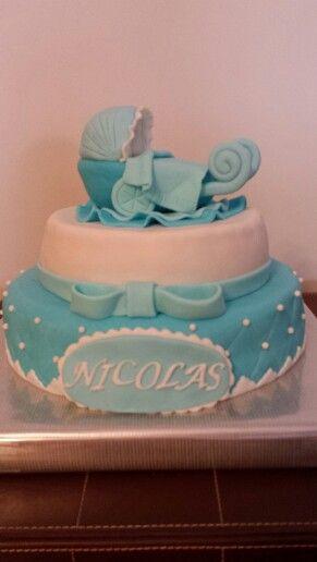 Esta es una de las tartas que más éxito ha tenido!! Esta vez, para el Bautizo de Nicolás!