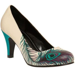 T.U.K. Peacock shoes. i love this height of heel, you can actually walk for a while! Would be awesome if all the maids could have matching shoes!!!