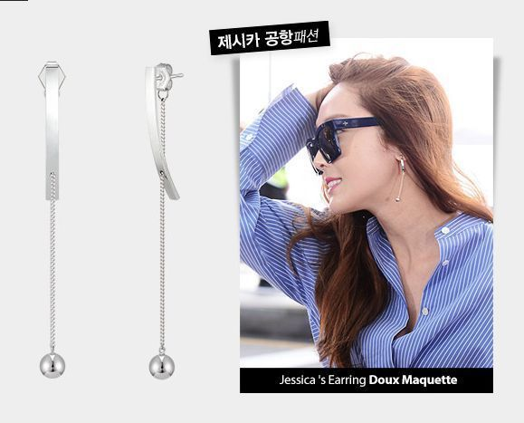 """J Estina Red"" Made in Korea Jessica's Earrings ""Trique Doux Maquette "" | eBay"