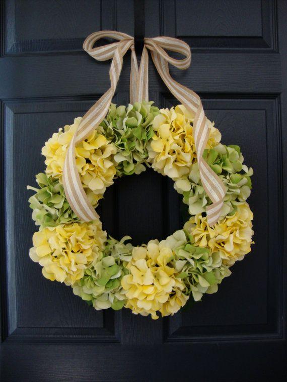 Hydrangea Wreath Summer Wreath Front Door by