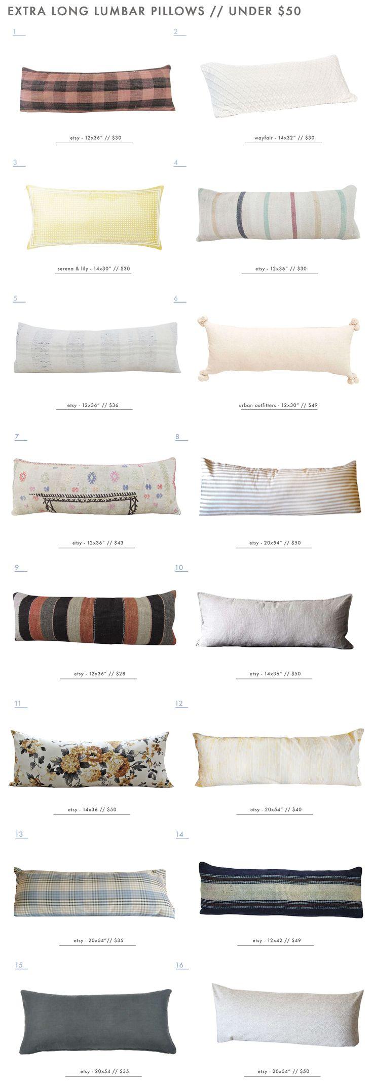 Our Extra Long Lumbar Pillow Roundup - Under $50