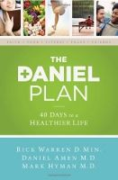 Food list for The Daniel Plan (2013) is a healthy lifestyle/spiritual book that advocates eating unprocessed, whole foods.  - Eat nonstarchy vegetables, healthy animal or plant proteins, healthy starch or whole grain, and some fruit. - Limit high-sugar fruits and healthy natural sweeteners. - Avoid processed foods, junk food, sugars, artificial sweeteners, and fake food substances. - Optional – follow a 10-40 day detox which also avoids gluten, dairy, caffeine, and alcohol.