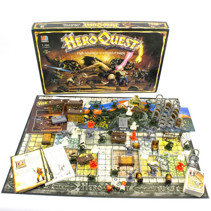 Vintage MB Heroquest Board Game Published by Games Workshop, 1989, Boxed