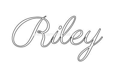 Riley Baby Boy Name Stencil in Tattoo Design