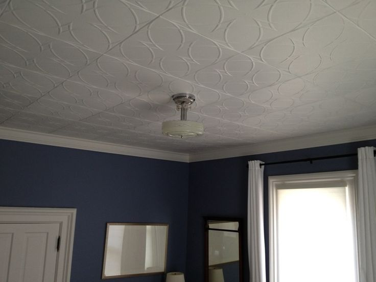 Guest Bedroom With R82 Styrofoam Ceiling Tiles Www