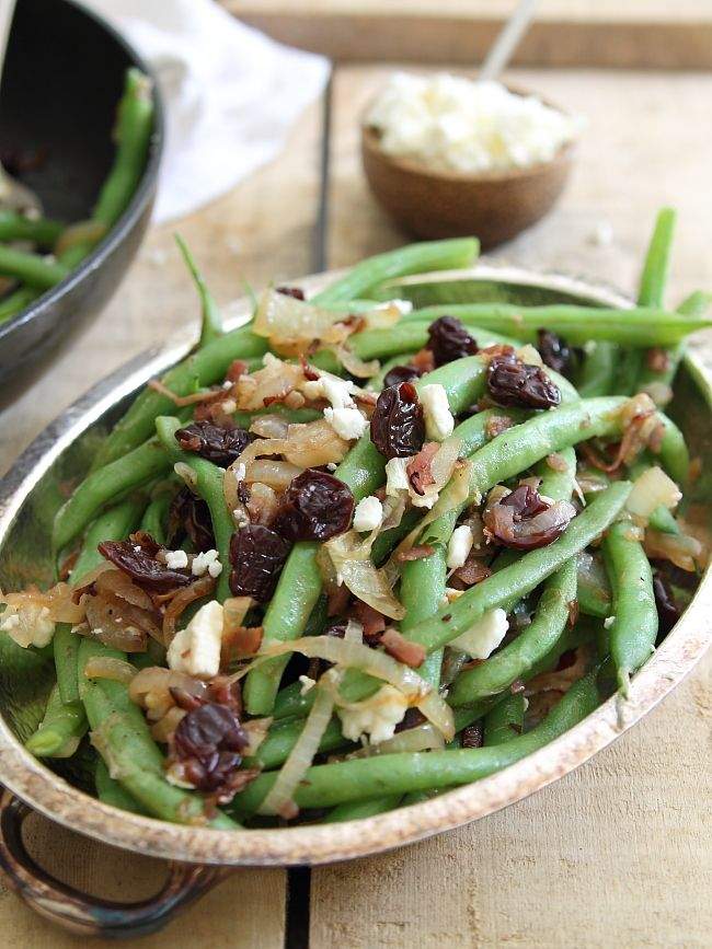 Sweet & Salty Green Bean Cherry Salad. Side Dishes, Sweet, Green Beans ...