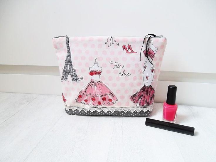 trousse multifonction, maquillage ou autre, doublée et zippée - Chic parisien : Trousses par chipylene