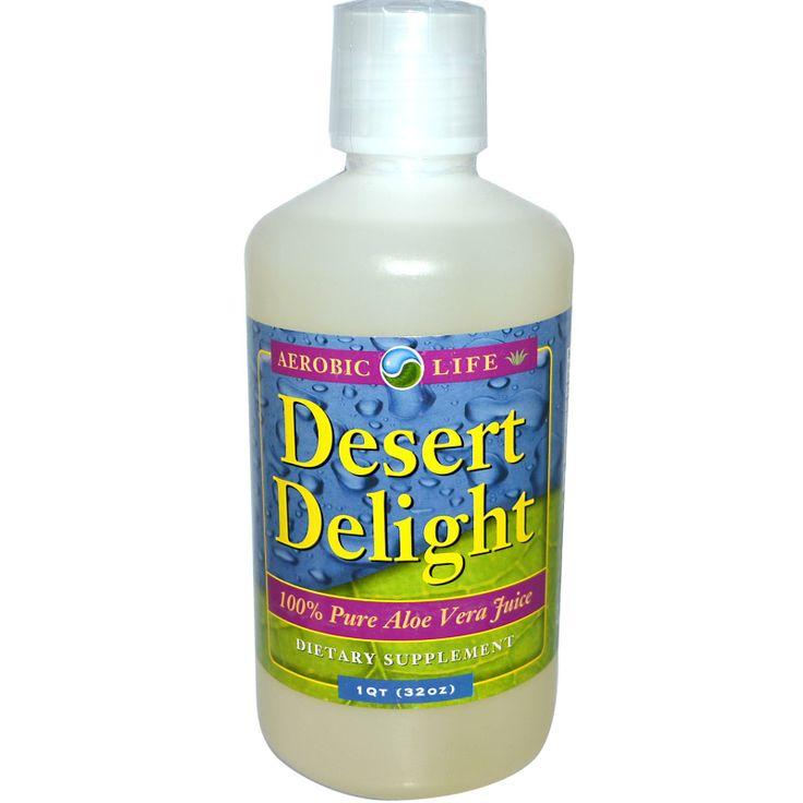 Aerobic Life, Desert Delight, 100% Pure Aloe Vera Juice, 1 qt (32 oz)