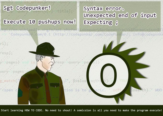 The CodePunker - Smile #code, #humor, #syntax http://codepunker.com/smile