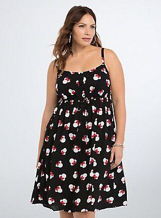 Plus Size Disney Minnie Mouse Challis Sundress, MINNIE MOUSE DOT