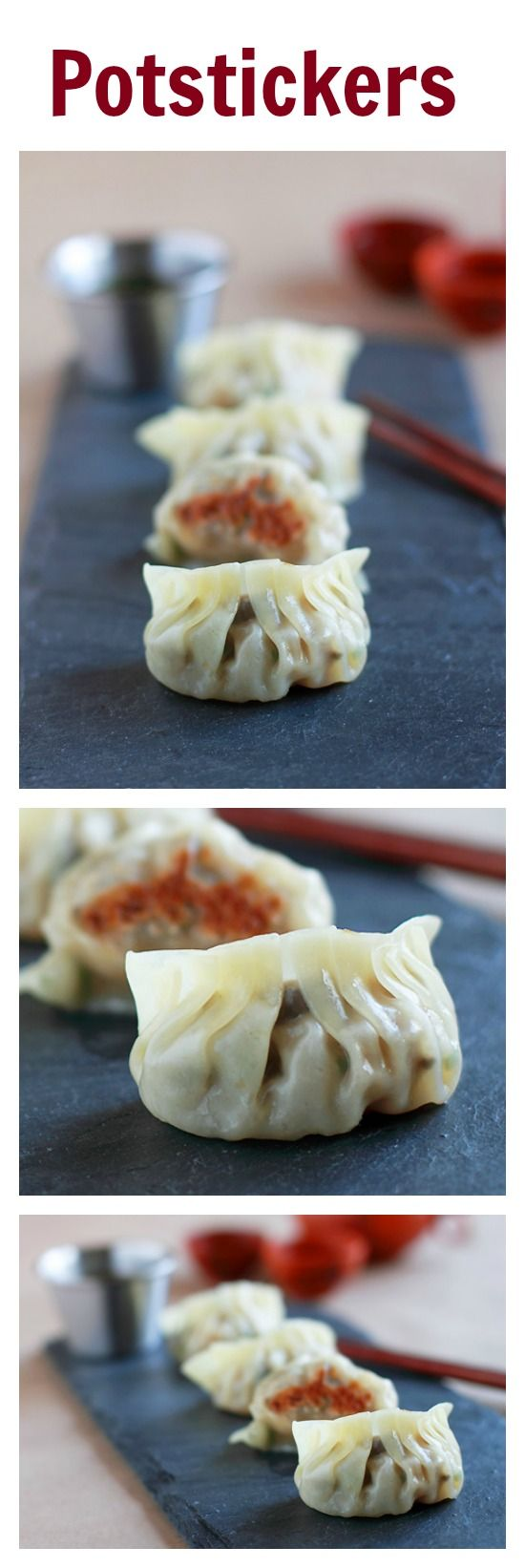 Potstickers Recipe (Chinese Dumplings). Learn how to make homemade potstickers, SO easy, SO quick, SO yummy!! | rasamalaysia.com