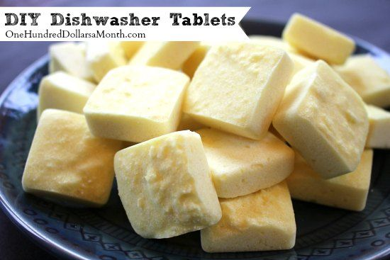DIY Dishwasher Tablets--(can easily adapt to add more citric acid for harder water like ours!)