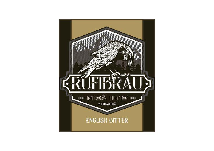 Rufibräu beer label