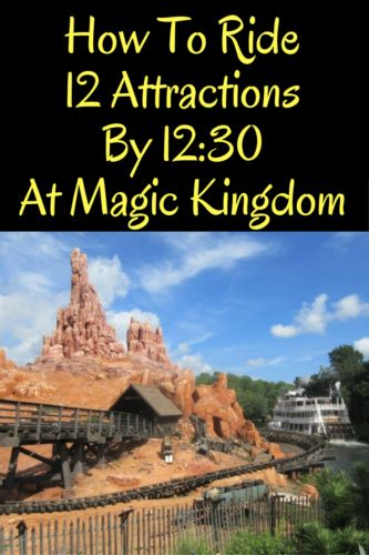 Planning a day in the Magic Kingdom? Here is my favorite touring plan for my family (kids ages 12, 9 and 2) that have us on 12 attractions by 12:30!
