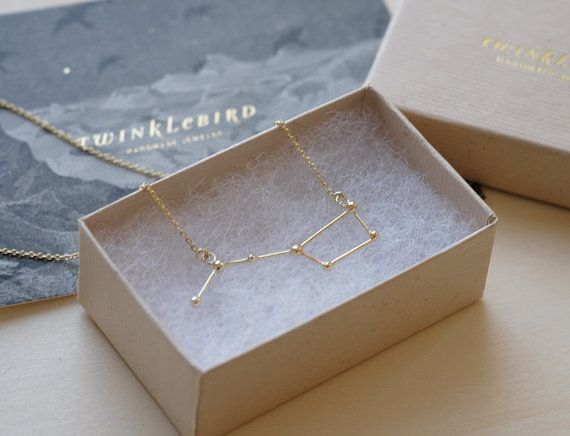 Necklace Ursa Major 18k gold plate от Twinklebird на Etsy