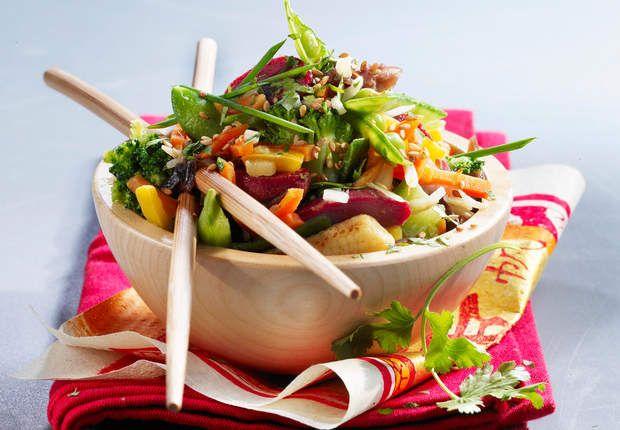 Wok de légumes asiatiques aux gésiers confitsVoir la recette du Wok de légumes asiatiques aux gésiers confits >>