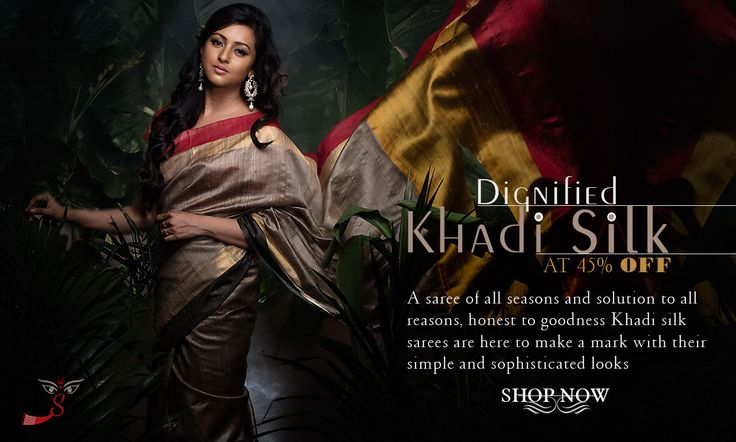 Arrived! #KhadiSilkSarees are at 45% OFF!