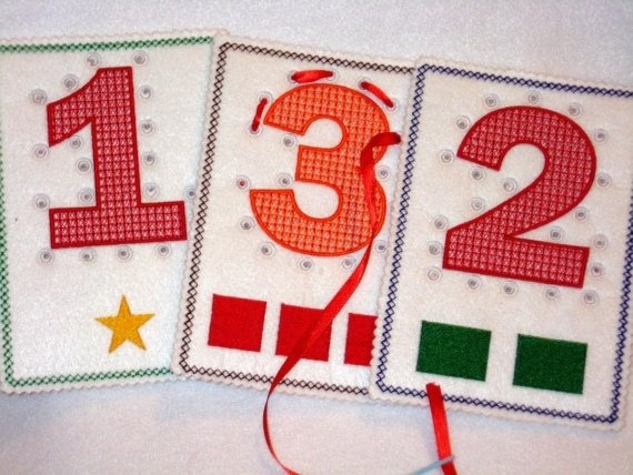 lacing numbers cards