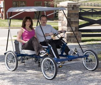 2-Person, 4-Wheel Cycle Car Series Quadricycle | Rhoades Car