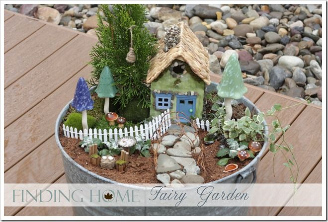 I've been wanting to make a fairy garden with the girls