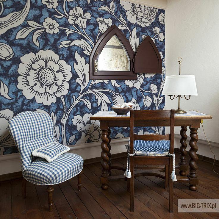 CLASSIC: Retro blue wallpaper by Big-trix.pl | #wallpaper #retro