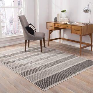 Shop For Felton Indoor Outdoor Stripe Gray Black Area Rug 2 X